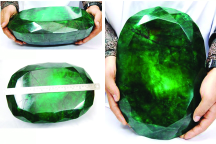 World's largest emerald weighing 11.5 kgs